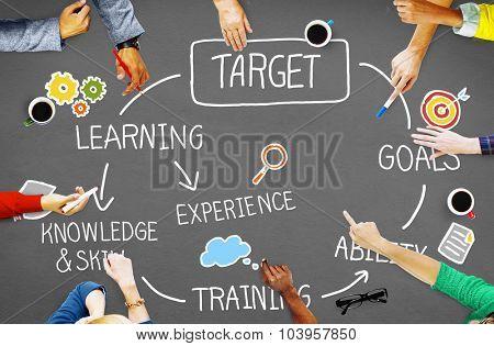 Target Aspiration Goal Achievement Vision Concept