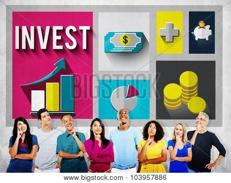 Invest Analysis Financial Economy Planning Concept