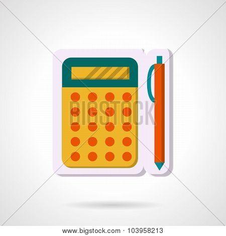 Colorful vector icon for mathematics