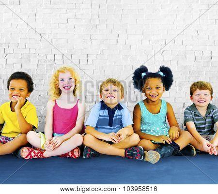 Children Kids Happiness Multiethnic Group Cheerful Concept