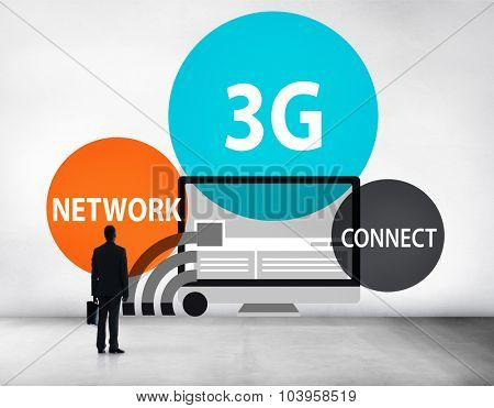 3G Networking Technology Innovation Connection Concept