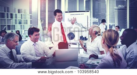 Business People Meeting Growth Discussion Corporate Concept