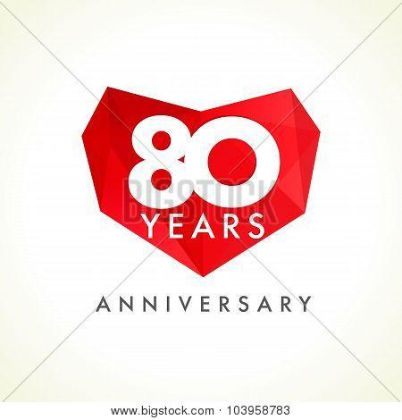 80 anniversary heart logo.