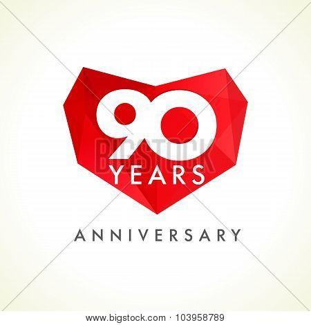 90 anniversary heart logo.