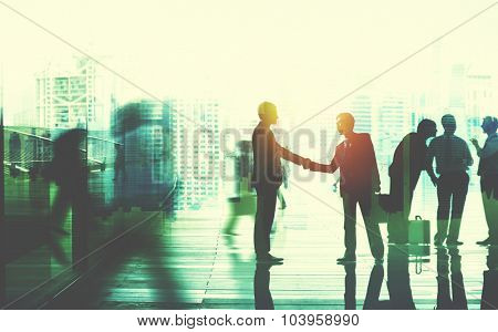 Business People Talking Connection Conversation Concept