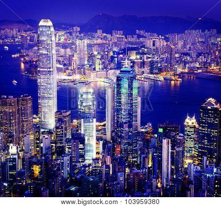 City Scape Buildings Urban Scene Business District Concept