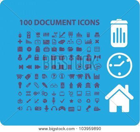 100 document icons