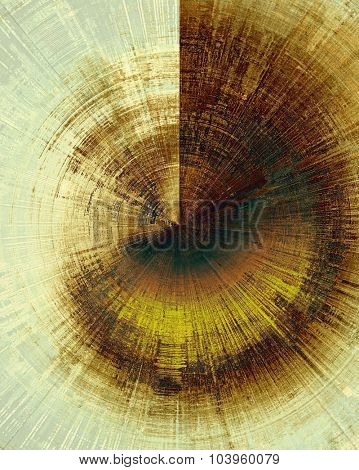 Old grunge background with delicate abstract texture and different color patterns: yellow (beige); brown; green; cyan