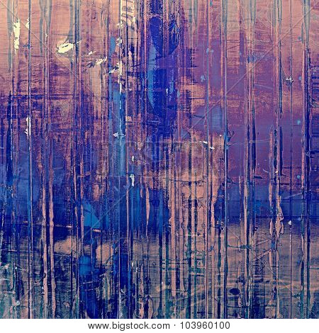 Weathered and distressed grunge background with different color patterns: brown; blue; pink; purple (violet)