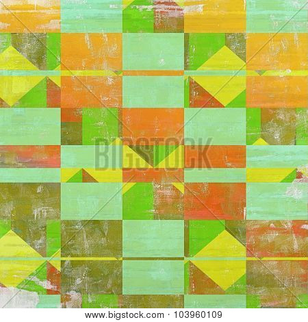 Grunge background with vintage and retro design elements. With different color patterns: yellow (beige); blue; red (orange); green