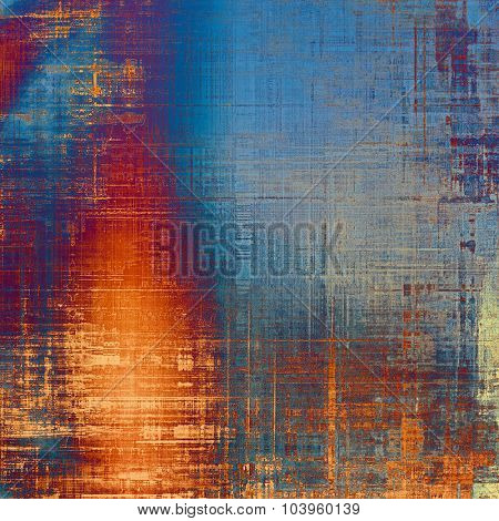 Abstract grunge background of old texture. With different color patterns: yellow (beige); blue; red (orange); purple (violet)