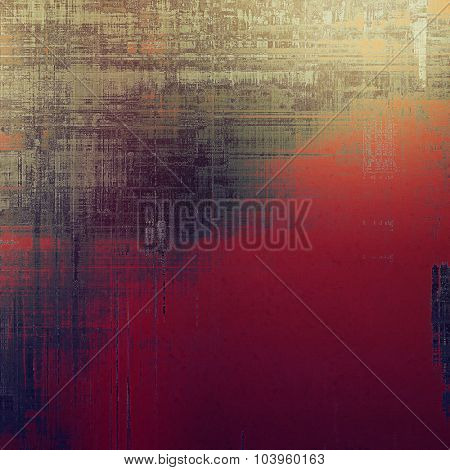 Vintage texture with space for text or image, grunge background. With different color patterns: brown; gray; red (orange); pink