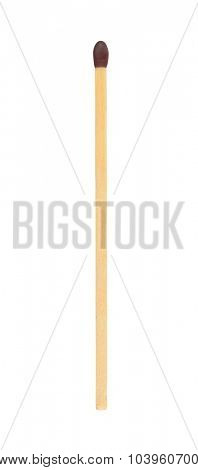 Single match stick isolated on white with work path