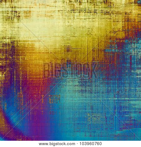 Grunge, vintage old background. With different color patterns: yellow (beige); brown; blue; purple (violet)