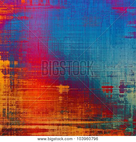 Grunge background with vintage and retro design elements. With different color patterns: yellow (beige); blue; red (orange); purple (violet)