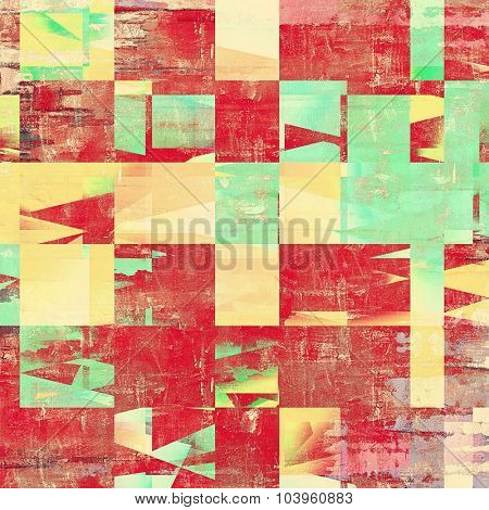 Old grunge textured background. With different color patterns: yellow (beige); brown; red (orange); green