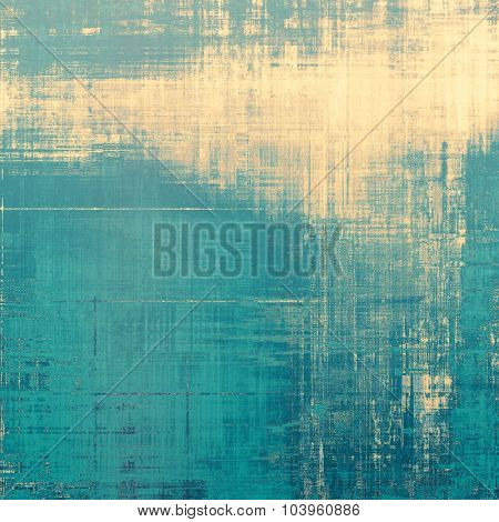 Retro background with old grunge texture. With different color patterns: yellow (beige); brown; blue; cyan