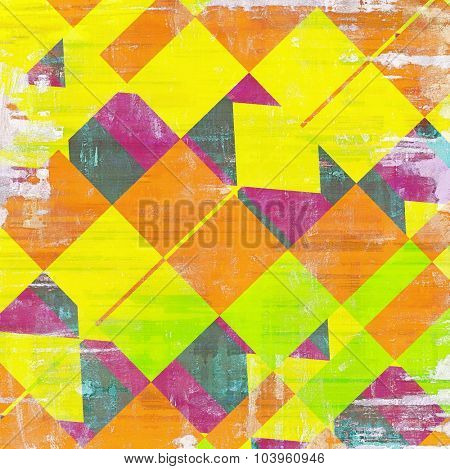 Vintage textured background. With different color patterns: yellow (beige); red (orange); green; purple (violet)