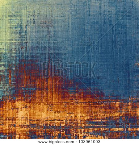 Vintage texture with space for text or image, grunge background. With different color patterns: yellow (beige); brown; gray; blue