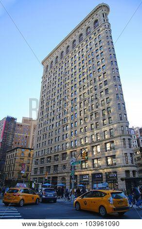 Historic Flatiron Building in Manhattan
