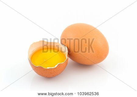 Cracked Egg And Shell.
