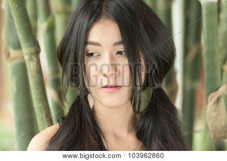 Asian Woman Feeling Sadness