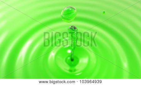 Drop Of Apple Juice Macro With The Focus Effect (drop 2)