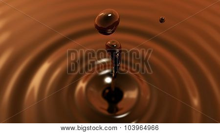 Drop Of Coffe Macro With The Focus Effect (drop 2)