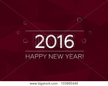 Happy New Year 2016 Vector Background