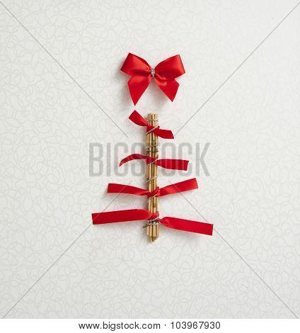 modern christmas tree card