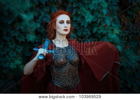 Red-haired Girl Warrior.