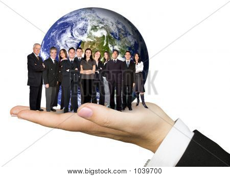 Business Team Work Worldwide