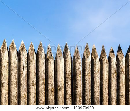 Wooden Palisade Fencing