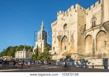 Place Du Palais Of Avignon