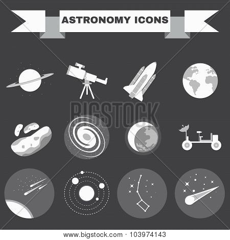 Astronomy Icons Set