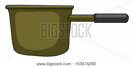 Close up cooking pot illustration
