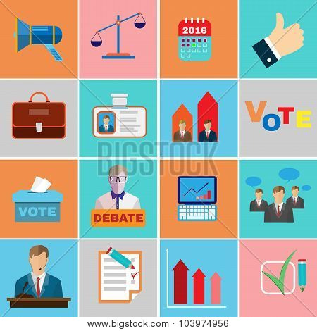 Elections Campaign Icons