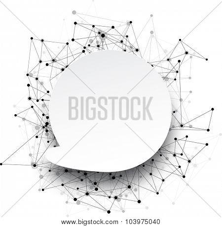 Global communication round background. Vector Illustration.