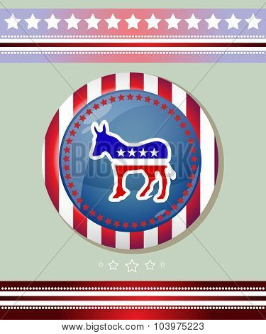 Democratic Party Donkey Symbol Banner