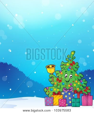Christmas tree and gifts theme image 5 - eps10 vector illustration.