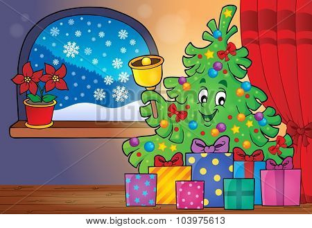Christmas tree and gifts theme image 4 - eps10 vector illustration.