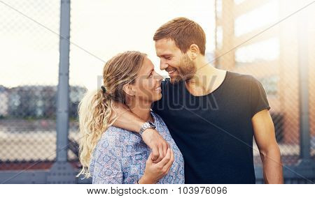 Couple Looking Into Each Others Eyes