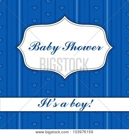 Background with banner baby shower boy