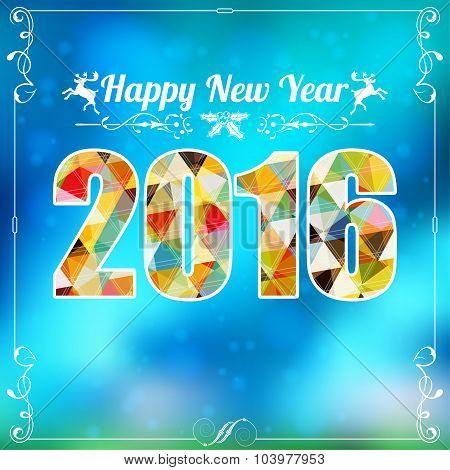Retro New Year Frame