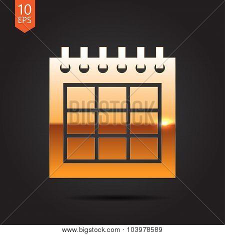 Vector calendar icon. Epsgold0