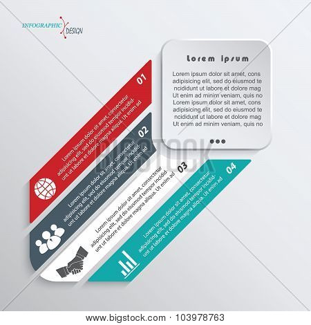 Infographic Template For Business Project Or Presentation Can Be Used For Web Design, Workflow