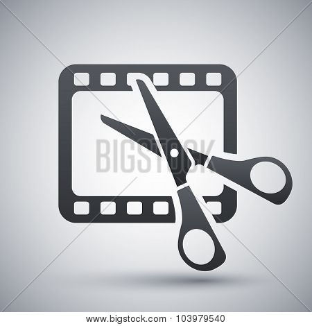 Vector Video Editing Icon
