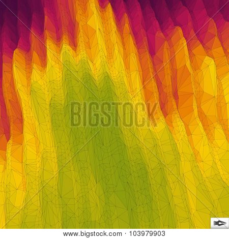 3d Perspective Grid Background Texture. Mosaic. Lattice Effect.