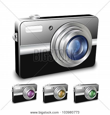 Digital Compact Camera. Vector Illustration