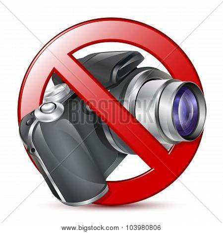 No Photography Sign. Vector